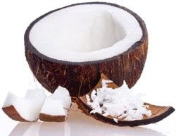 coconut broken open