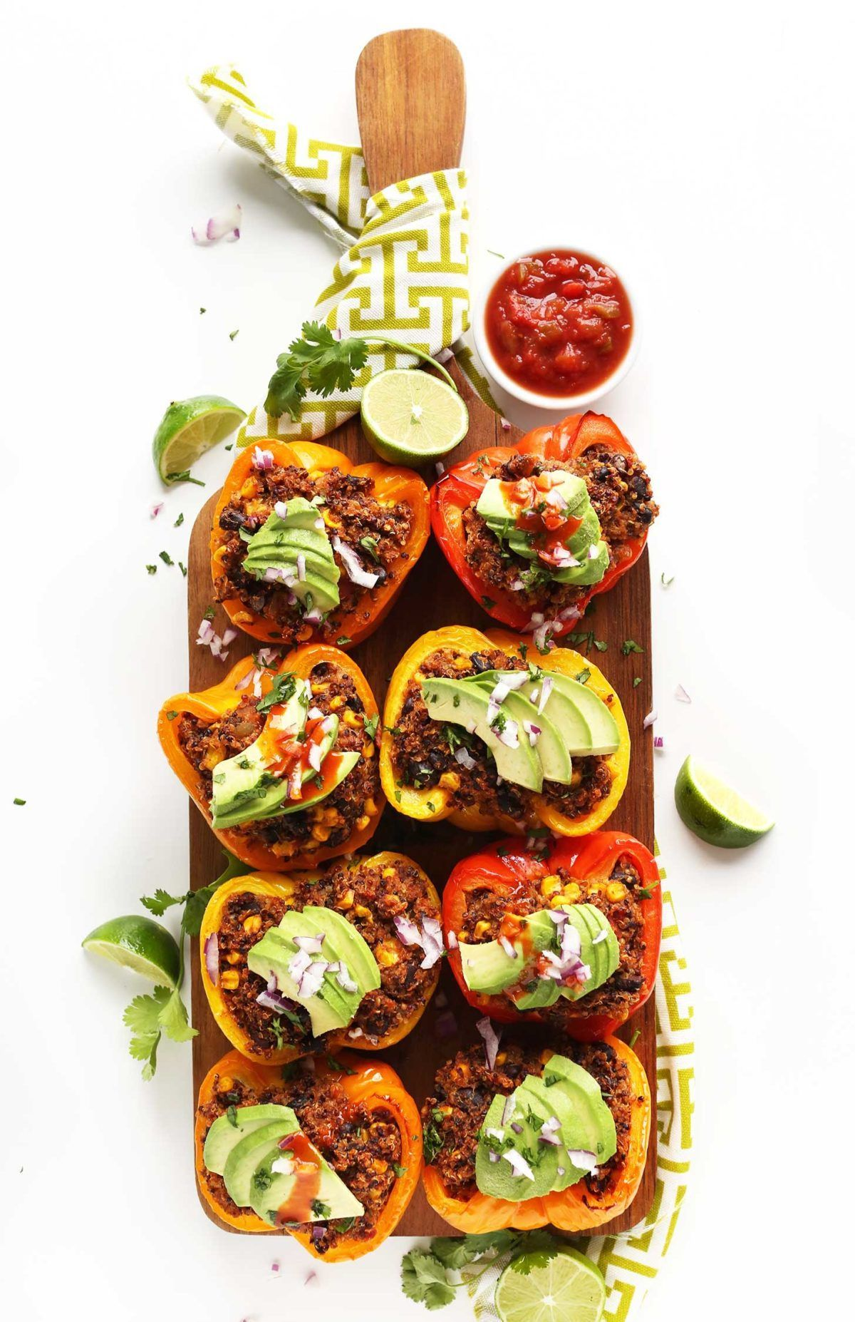 stuffed peppers with avocado